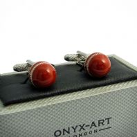 Cricket Ball Novelty Cufflinks By Onyx Art Gift Boxed